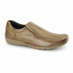WAVE Unisex Leather Slip-On Loafers Tan
