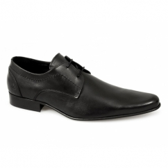 ZIGGY Mens Leather Pointed Shoes Black