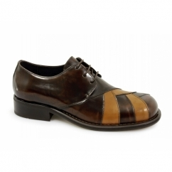 ZODIAC Mens Polished Leather MOD Shoes Brown
