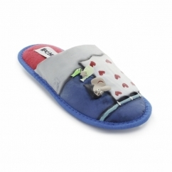 INERTE Unisex Novelty Slippers Light Blue
