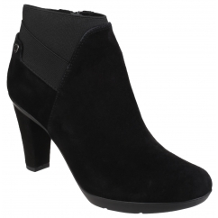 INSPIRATION Ladies Leather Heeled Ankle Boots Black