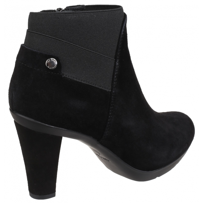 INSPIRATION Ladies Suede Ankle Boots Black