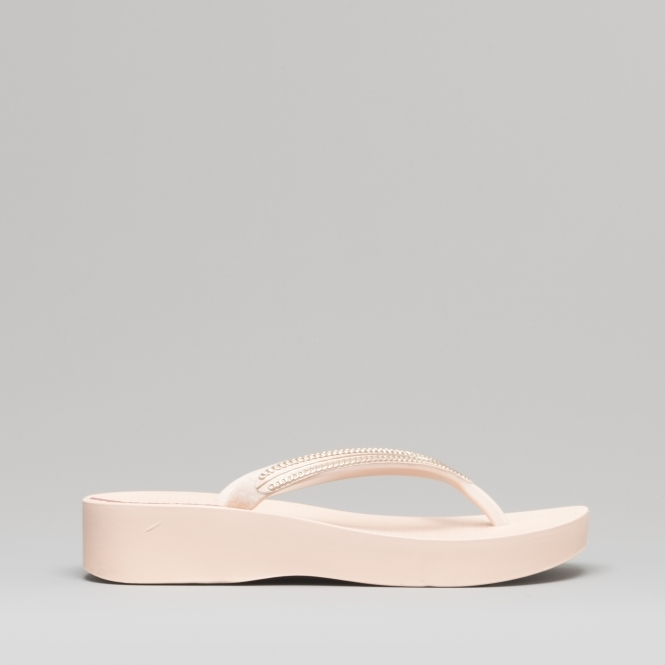 exquisite style good texture where can i buy MESH WEDGE 21 Ladies Wedge Flip Flops Blush Rose