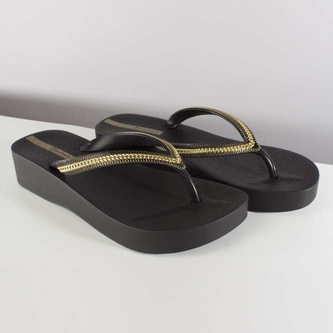 647c606ee4e1 Ipanema MESH WEDGE Womens Flip Flops Black