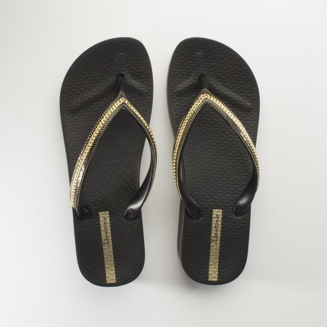 3c063c47725 Ipanema MESH WEDGE Womens Flip Flops Black