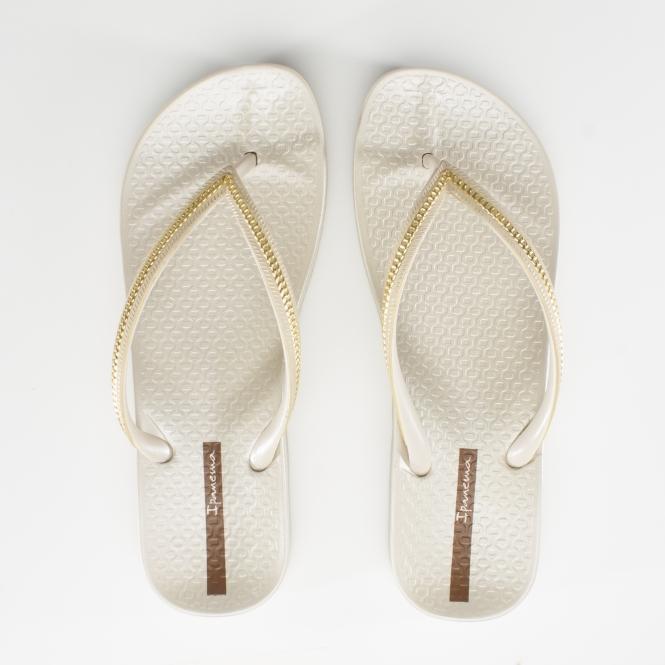 cb4decfd2ca Ipanema MESH WEDGE Womens Flip Flops Ivory