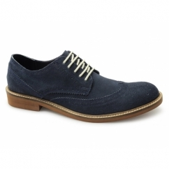 IRVINE SHOE Mens Brogue Desert Shoes Provincial Blue