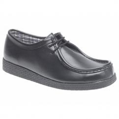 JACE Mens Lace-Up Office Shoes Black