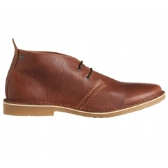 Jack & Jones GOBI Mens Leather Desert Boots Brown