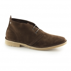 Jack & Jones GOBI Mens Suede Desert Boots Chocolate Brown