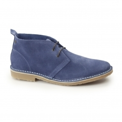 Jack & Jones GOBI Mens Suede Leather Desert Boots Dark Blue