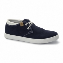 HAMLIN Mens Suede Leather Trainers Navy Blazer