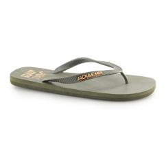 JFWPALM Mens Toe Post Flip Flops Deep Lichen Green