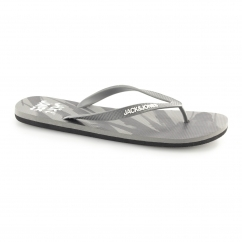 JFWPALM Mens Toe Post Flip Flops Frost Grey