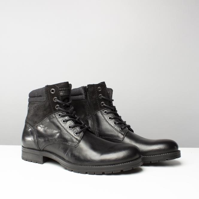 Jack & Jones JFWZACHARY - Lace-up boots - anthracite OiUWaGK