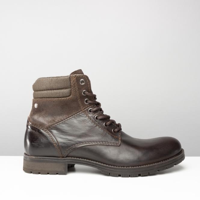 Jack & Jones JFWZACHARY - Lace-up boots - anthracite 458r3iZ6MA