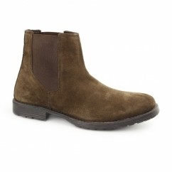 JJ RADNOR Mens Suede Dealer Boots Brown
