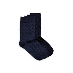 JJACHERALD Mens Cotton Socks 4 Pack Navy