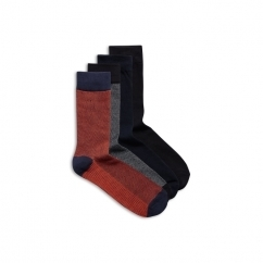 JJACHERALD Mens Cotton Socks 4 Pack