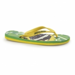 JJOLYMPIC Mens Toe Post Flip Flops Fern Green