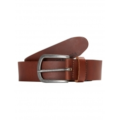 Jack & Jones LACE Mens Buckle Up Leather Belt Mocca Bisque