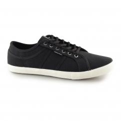 Jack & Jones ROSS Mens Canvas Trainers Anthracite