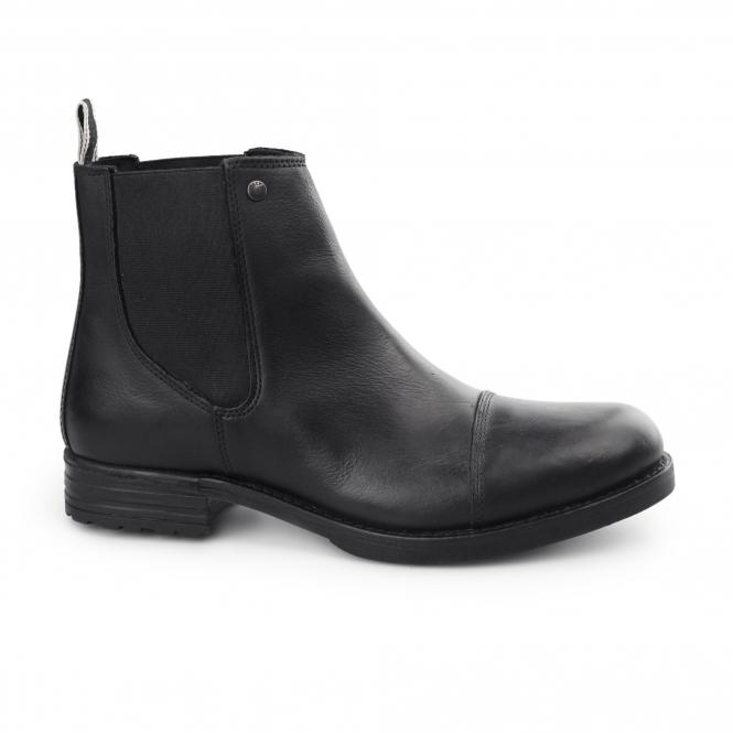 Jack & Jones SIMON Mens Waxy Leather Chelsea Boots Anthracite