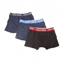 SMALL DOTS Mens Dotted Trunks 3 Pack Navy Blazer