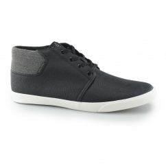 VERTIGO Mens PU Mid-Top Trainers Anthracite