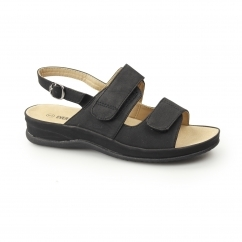 JANICE Ladies Slingback Sandals Black
