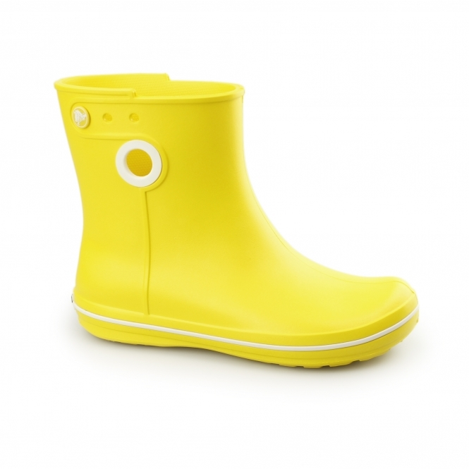 Crocs JAUNT SHORTY Ladies Short Wellington Boots Lemon