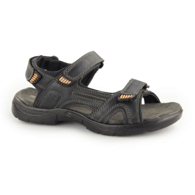 Catesby Shoemakers JEAN PAUL Mens Sports Sandals Black