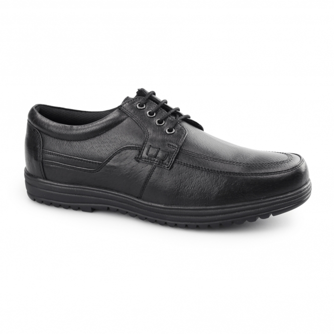 Dr Keller JEFFREY Mens Leather Lace Up Shoes Black