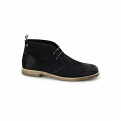 JJ ALPHA Mens Waxy Suede Chukka Boots Anthracite