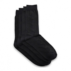 JJ MIND Mens Socks 4 Pack Black