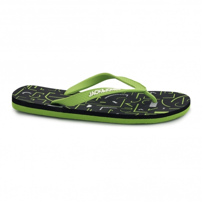 Jack & Jones JJTECH Mens Rubber Toe Post Flip Flops Forest Night