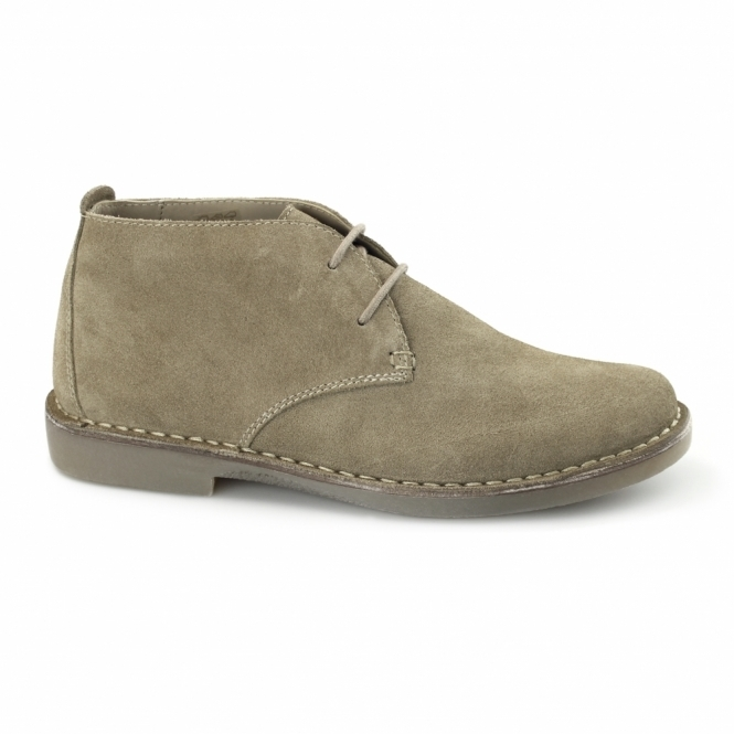 Padders JOE Mens Suede Wide Fit Desert Boots Beige