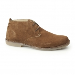 JOE Mens Suede Wide Fit Desert Boots Tan