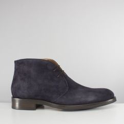 AUGUSTA Mens Suede Chukka Boots Navy