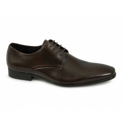 BROOKE Mens Leather Office Shoes Brown