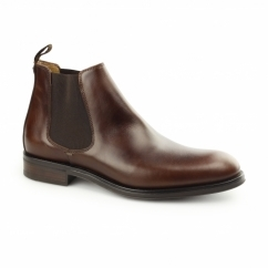 PORTCHESTER Mens Leather Chelsea Boots Tan