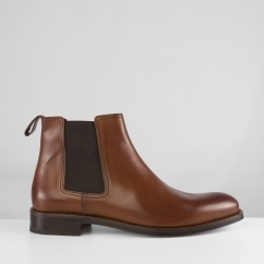 John White STABLES Mens Leather Chelsea Boots Tan