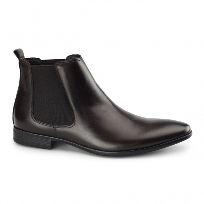 John White STERLING II Mens Leather Chelsea Boots Brown