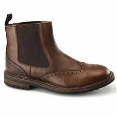 JORN Mens Goodyear Welted Cleated Dealer Boots Brown