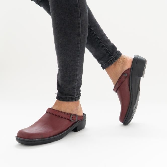 Women/'s Josef Seibel Betsy Leather Slip-on Mules