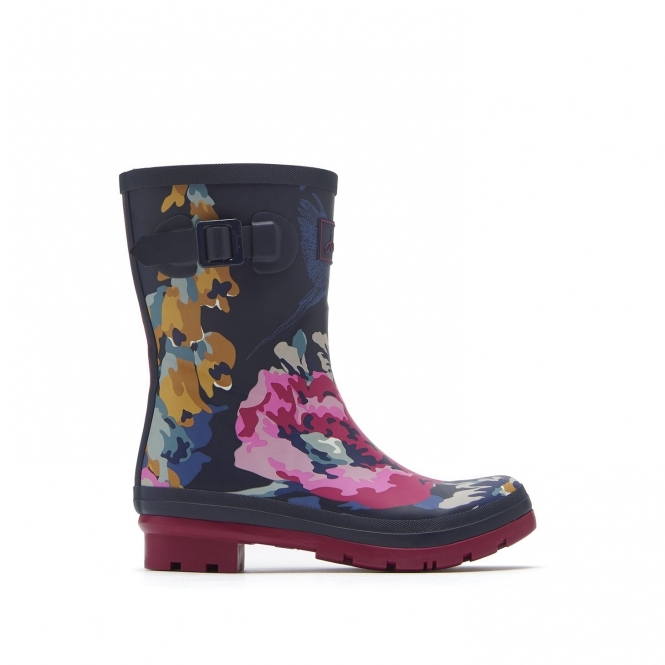 Joules Molly Welly Women Rubber Navy Wellie Boots UK Size 3-8