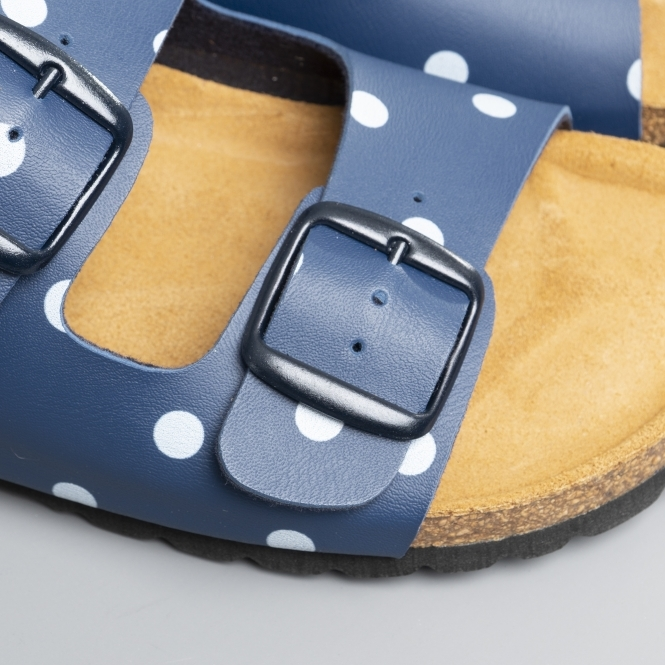 8bb2760b3d42e Joules PENLEY Ladies Mule Sandals Dark Blue Spot   Shuperb