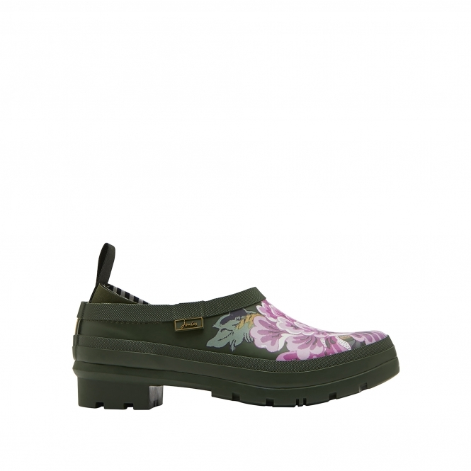 Joules POP-ONS Ladies Rubber Clogs Grape Leaf Chinoise