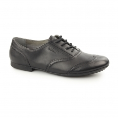 JR PLIE' Girls Leather Oxford Brogues Black