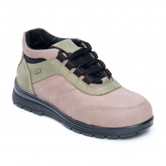 JUMP Ladies Leather Waterproof Extra Wide/Plus Boots Beige